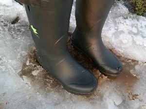Auch im Eis warme Füße!