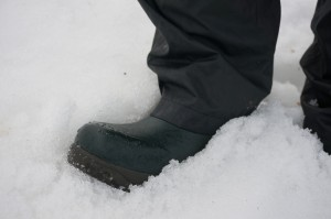 Neopren Gummistiefel Nora Champion im Schnee!